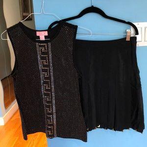 Versace for H&M Embellished Top & Skirt set size 8